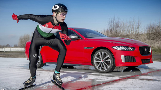 World Champion Speed Skater V 4 Wheel Drive Jaguar