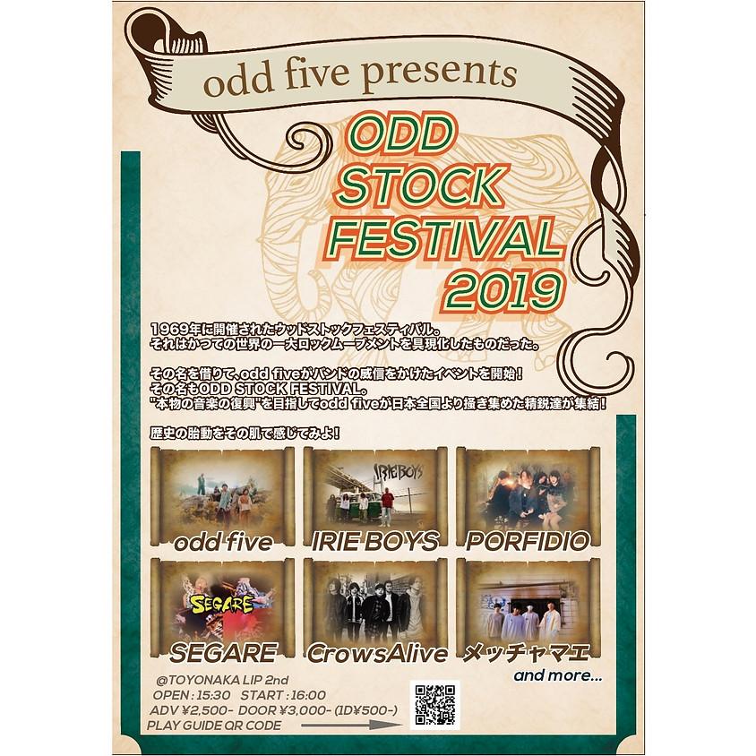 """8/18 (SUN)odd five presents """"ODD STOCK FESTIVAL 2019"""""""