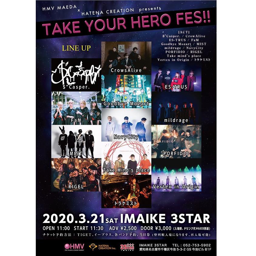 "3.21(Sat) HMV前田 x HATENA CREATION pre. ""Take Your Hero Fes!!"""