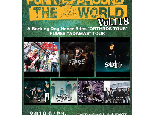 PUNK AROUND THE WORLD VOL.118 出演決定!!!