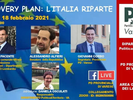 RECOVERY PLAN: L'ITALIA RIPARTE - INCONRO A VARESE - VIDEO