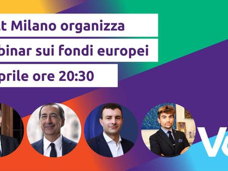 Beppe Sala, Carlo Cottarelli, Carmine Pacente e Volt: LO SVILUPPO DI MILANO E I FONDI EU