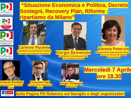 Incontro 7 aprile - Situazione Economica e Politica, Decreto Sostegni, Recovery Plan, Riforme