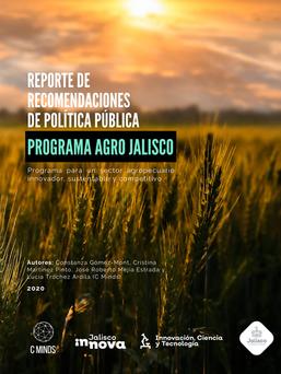 Reporte de Recomendaciones de Política Pública Agro Jalisco