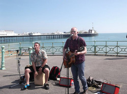 Busking in Brighton