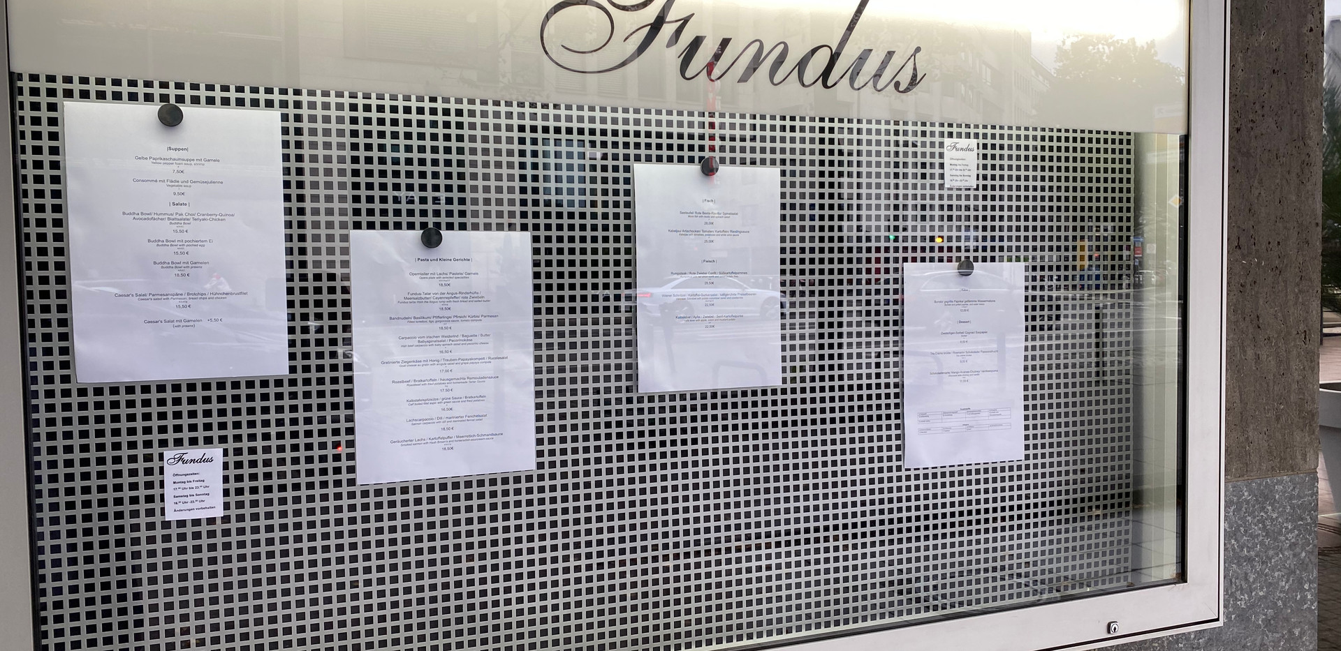 Resturant Funudus Frankfurt in der Oper