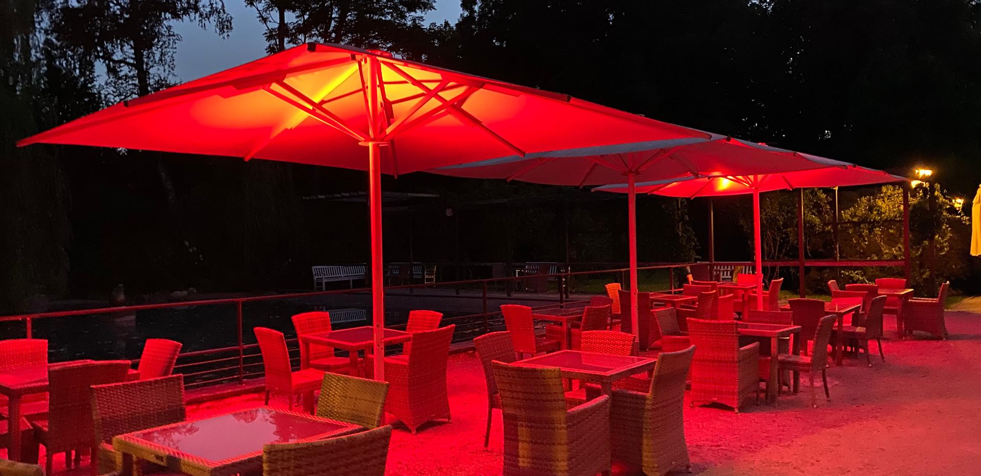 Orangerie Kurpark Bad Homburg Draußen Beleuchtung