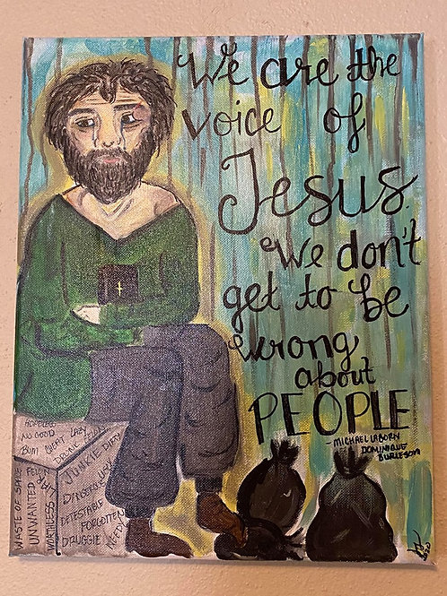 Painting - Quote from The Voice of Jesus