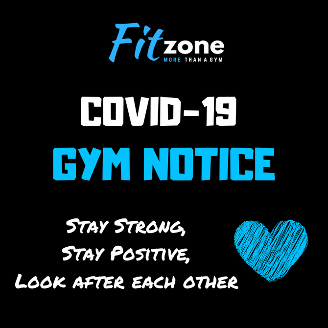 COVID-19 Fitzone Announcment