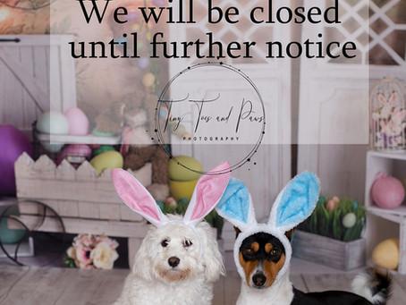 We closed our studio temporarily