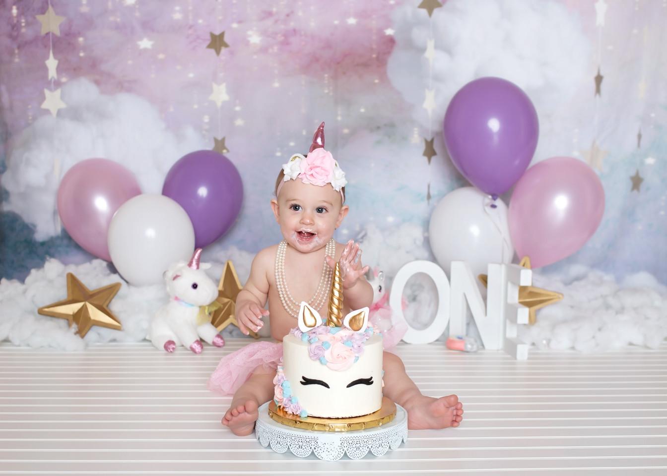 unicorn cakesmash