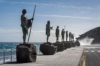 Guanche statues in Tenerife