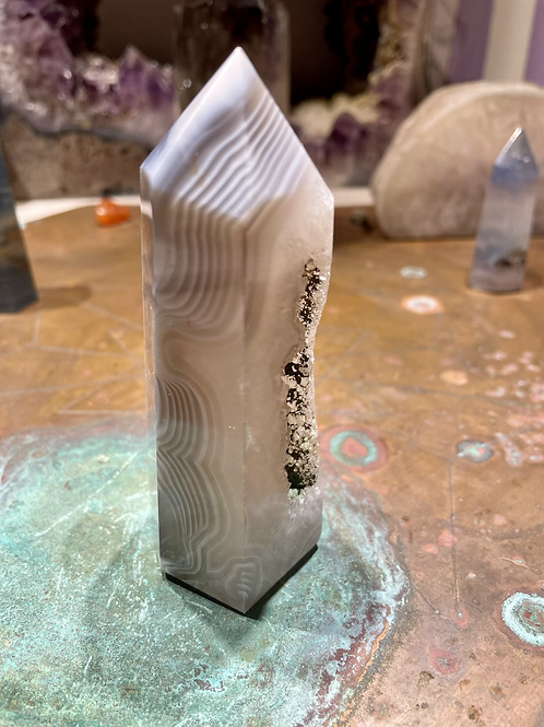 Agate Tower with Druzy