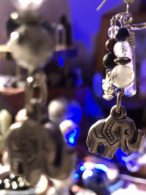 Elephant Crystal Earrings