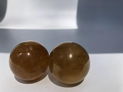 Orange Calcite Spheres