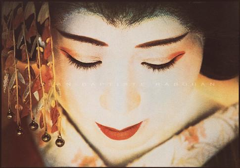 Tohoku #5 Gomme trichrome sur papier aquarelle 40x50cm