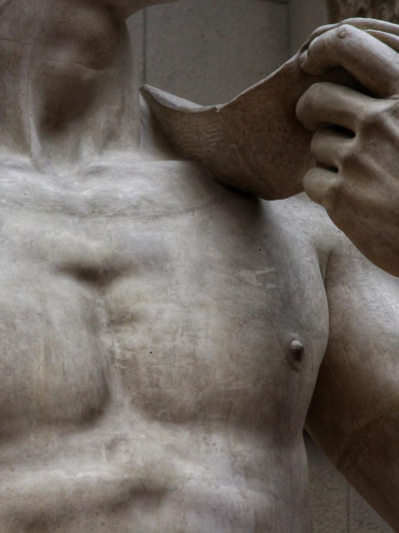 Фрагмент мраморного слепка Давида. Микеланджело Буанарроти. 1504 год. Автор фотографии: Давид Дивайн