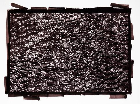 Vibration #1  Tirage vandyke viré à l'or 50x60cm
