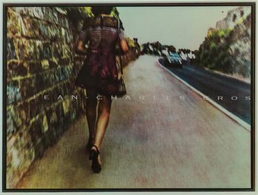 Monique à Sète. Gomme bichromatée polychrome.