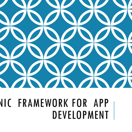 Ionic  Framework for  App Development