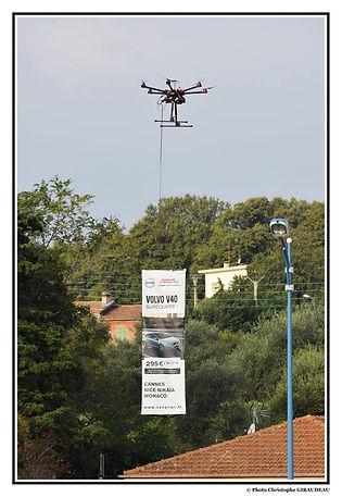 Publicité aéerienne par drone Visusky