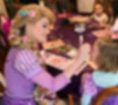 Rapunzel doing child's makeup