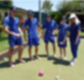 School Students learn lawn bowls