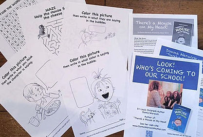 Free coloring sheets for children's book