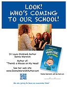 School visit poster for Donna Warwick