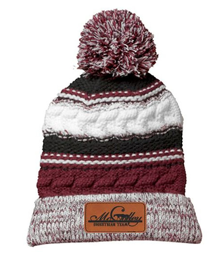 Team Colors McColley Beanie Hat with POM POM
