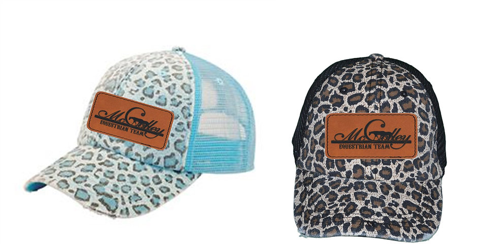 McColley Leopard Leather Patch Hat