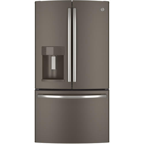 GE - 27.7 cu. ft. French-Door Refrigerator - Slate