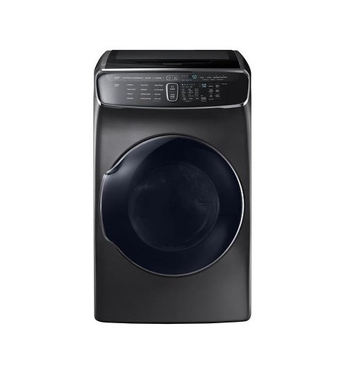 Samsung - FlexDry 7.5-cu ft Electric Dryer (Black stainless steel)