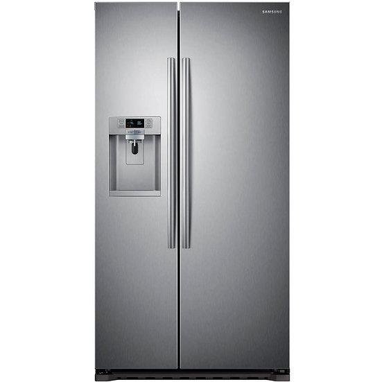 Samsung - 22 cu. ft. Counter Depth Side-By-Side Refrigerator