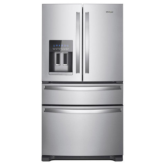 36-Inch Wide Whirlpool - French Door Refrigerator - 25 cu. ft.