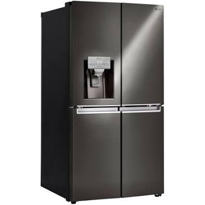 LG - 29.9 Cu. Ft. 4-Door French Door, Door-in-Door Refrigerator -Black Stainless