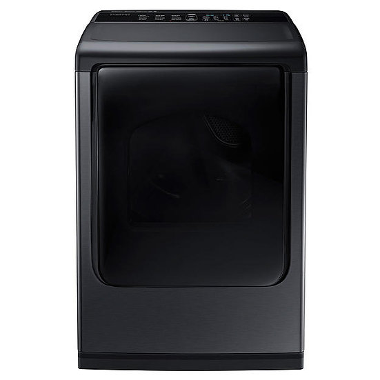 Samsung - 7.4 cu. ft. Electric Front Load Dryer - Black Stainless Steel