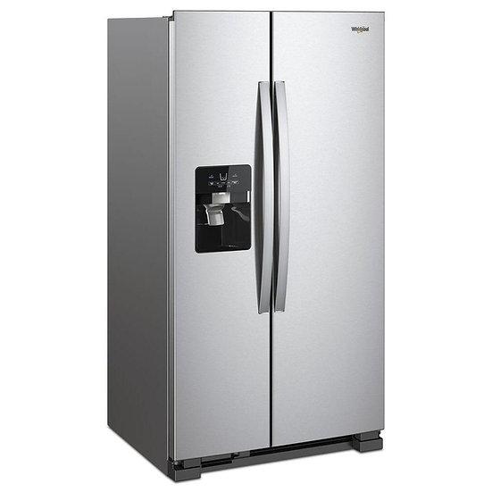 Whirlpool 21 cu. ft. Side by Side Refrigerator Fingerprint Resistant Stainless