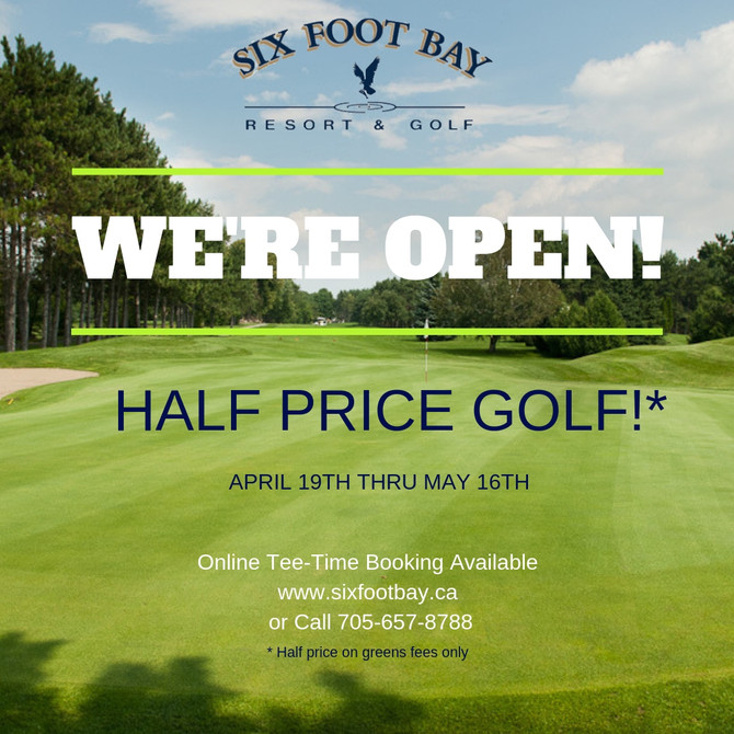 We're Open for Golf!