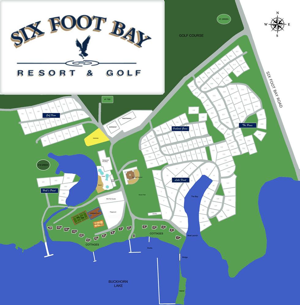 Six Foot Bay Map