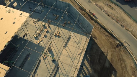Construction Site Drone Footage