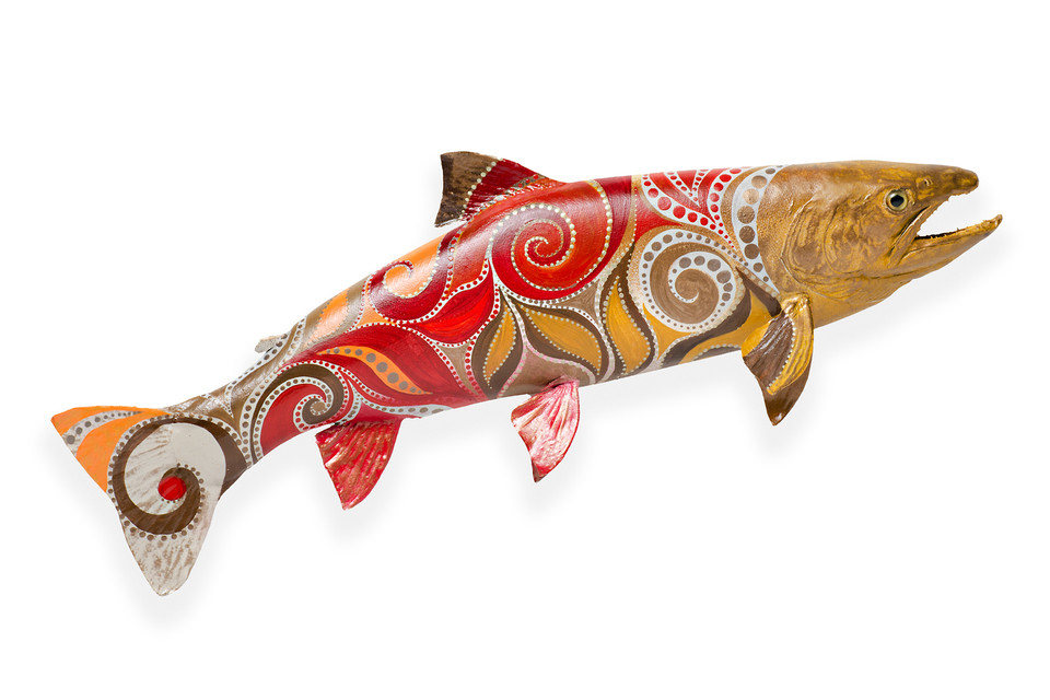 Hand painted Skin Mount Fish