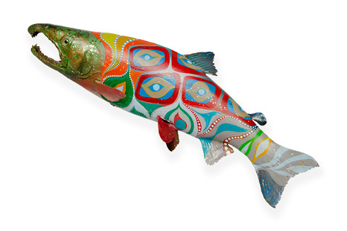 Hand painted skin mounted fish