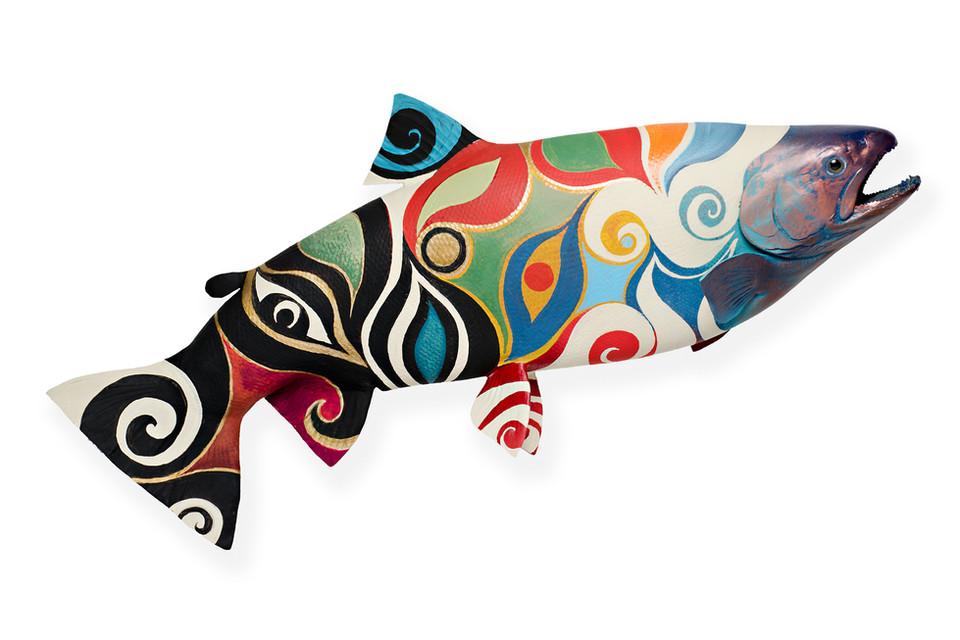 Hand Painted Skin Mount Fish