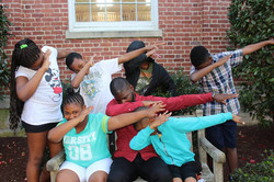 chris and scholars dabbing