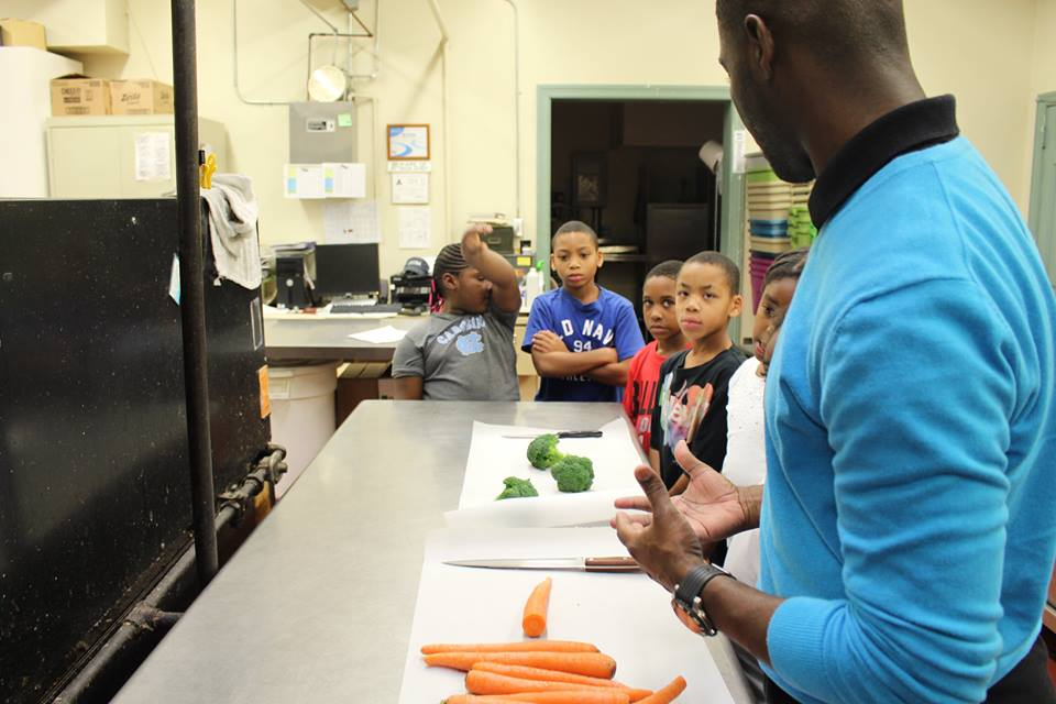 Chris teaching culinary