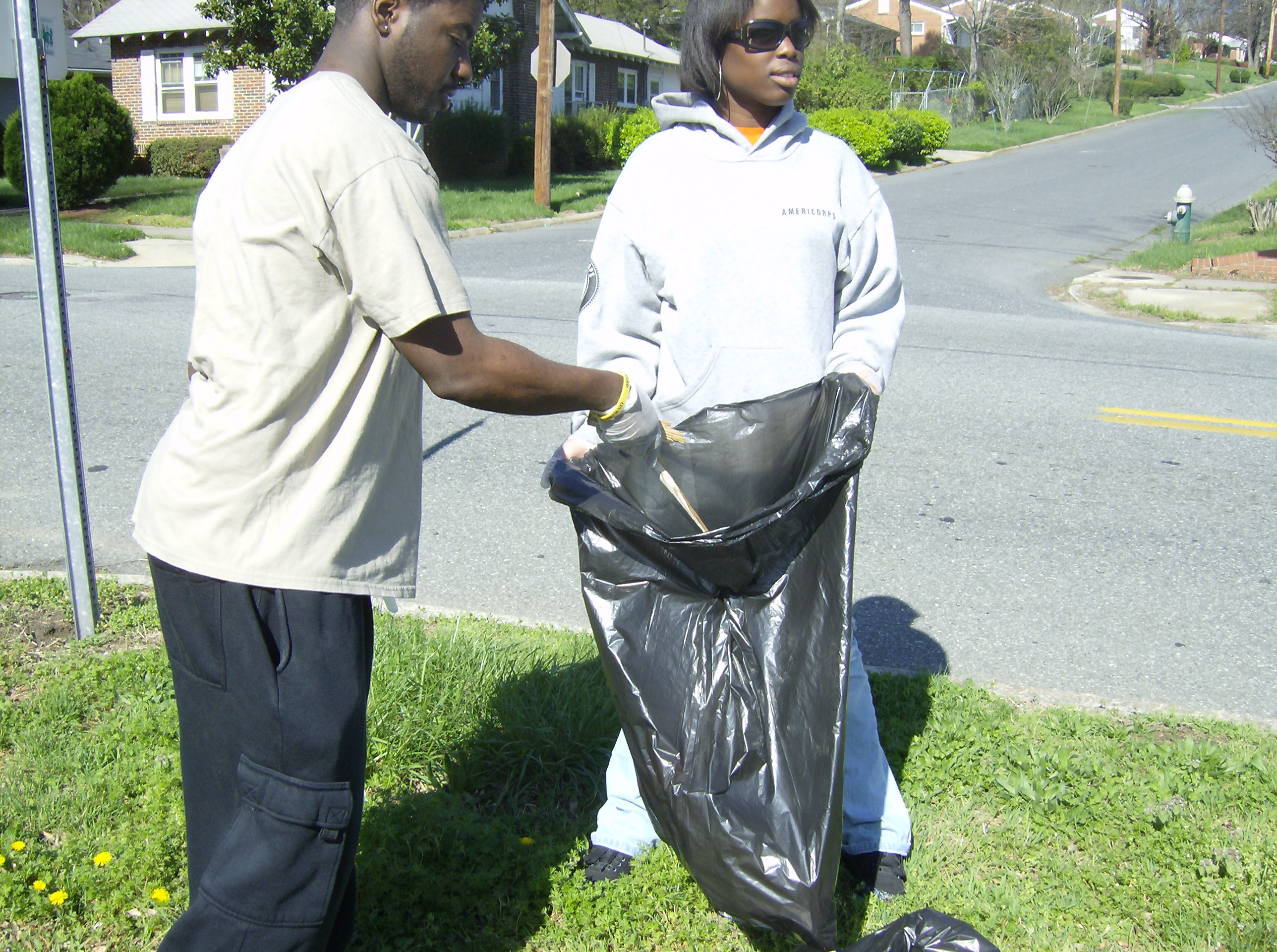 Service project community cleanup