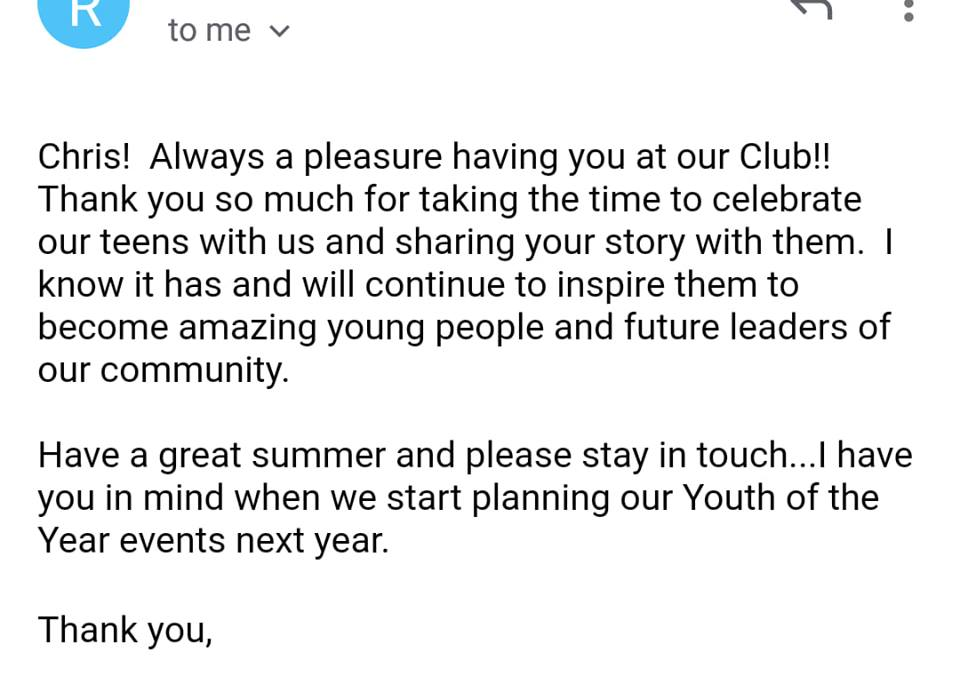 Boys and Girls club testimonial