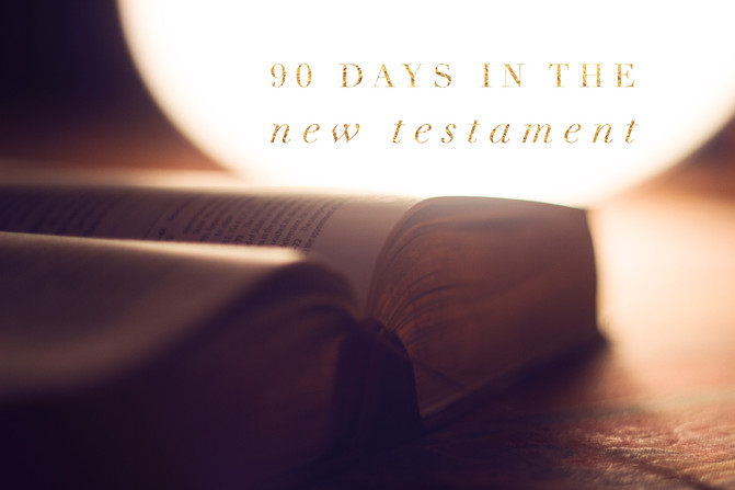 Join Us for 90 Days in The New Testament