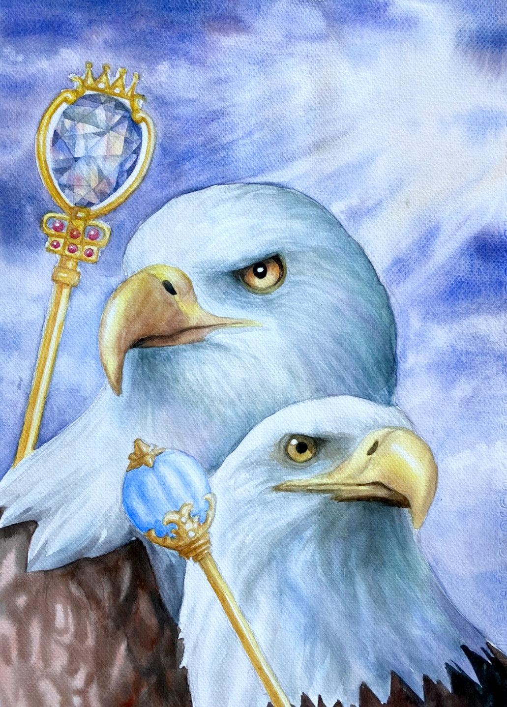 วาดภาพนกด้วยสีน้ำ